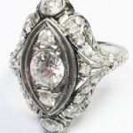 Diamond estate ring - available at King Jewelers Battle Creek