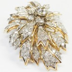 Diamon brooch estate jewelry
